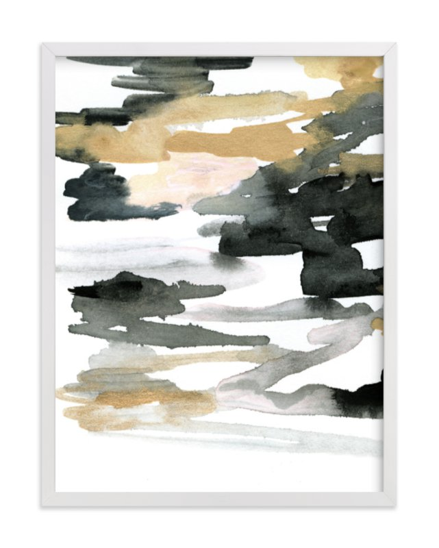 """Stormy Sunrise"" - Art Print by Melanie Severin in beautiful frame options and a variety of sizes."