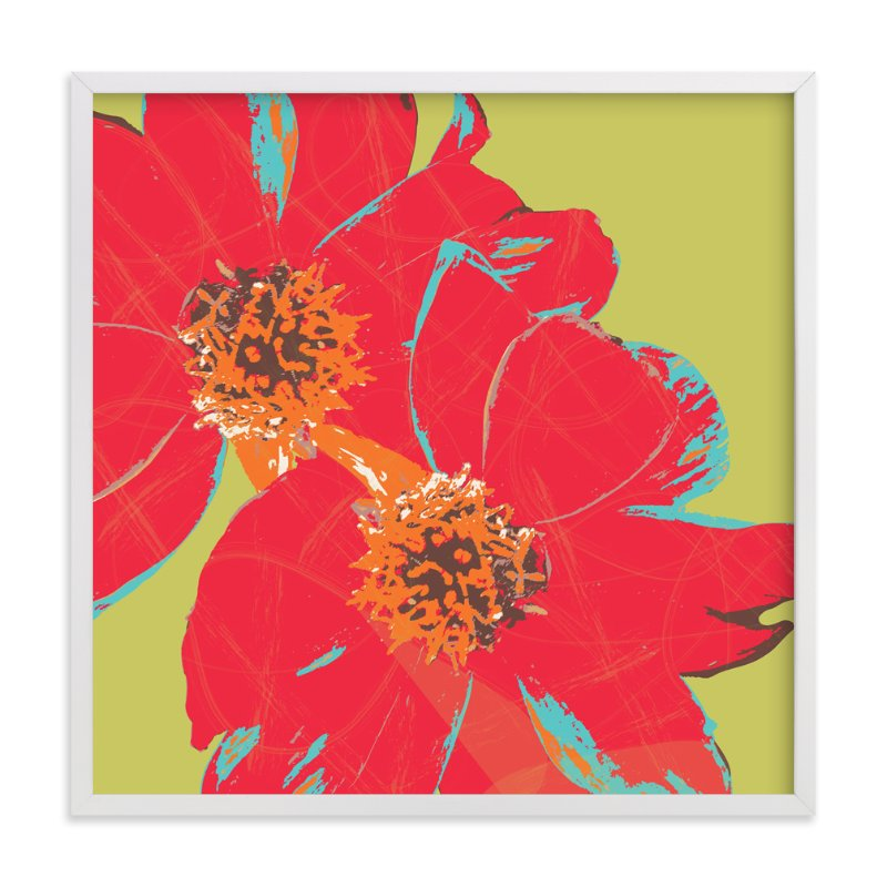 """Dahlia"" - Art Print by Dreaming Inspirations in beautiful frame options and a variety of sizes."