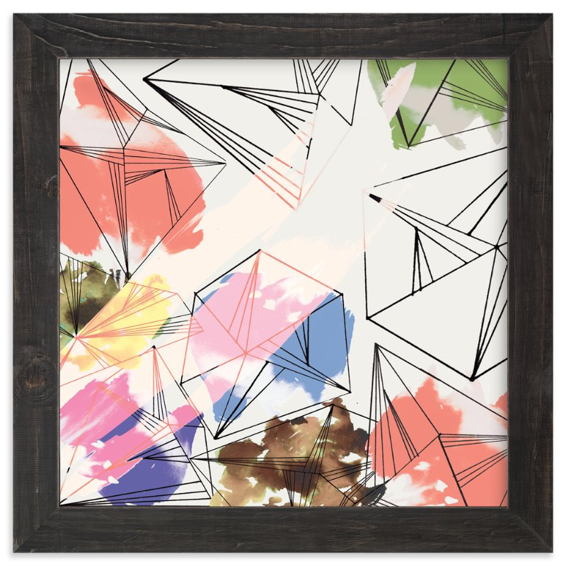 """""""Industrial Crystals"""" - Art Print by Hilary Hinrichs in beautiful frame options and a variety of sizes."""