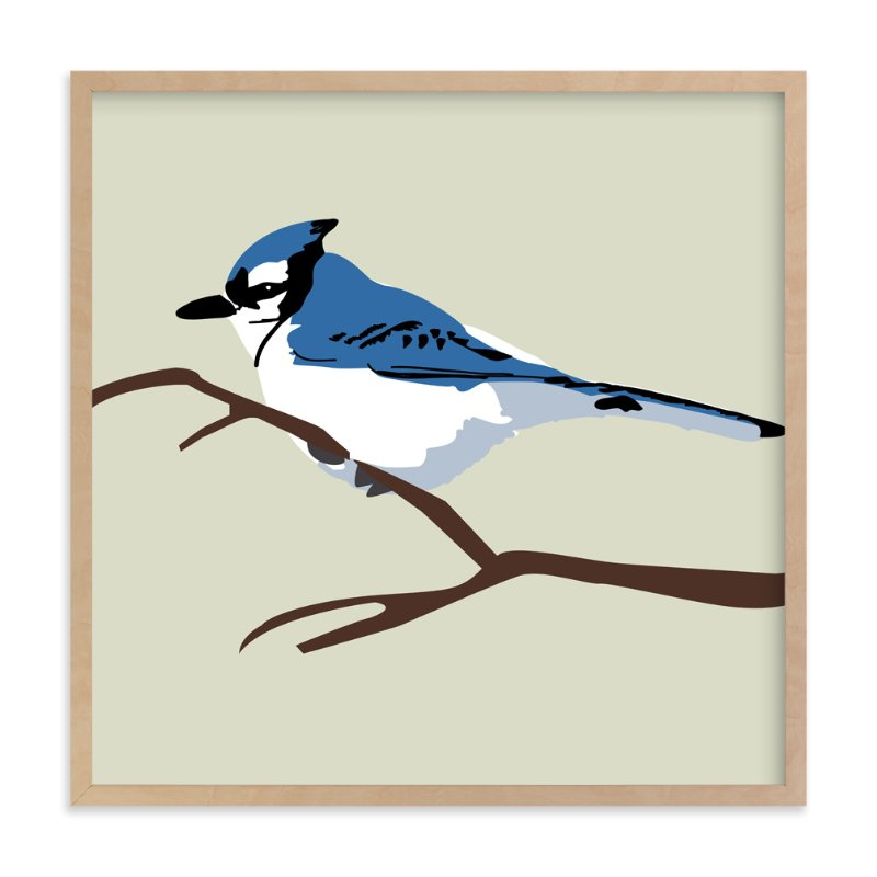 """Blue Bird"" - Art Print by Faye Femister in beautiful frame options and a variety of sizes."