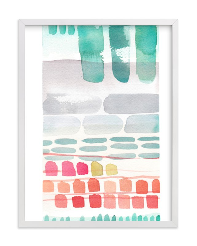 """""""Stacks"""" - Art Print by Kelly Ventura in beautiful frame options and a variety of sizes."""