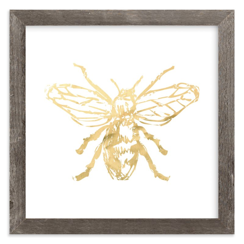 """Free to Bee Me"" - Art Print by hey paper moon in beautiful frame options and a variety of sizes."