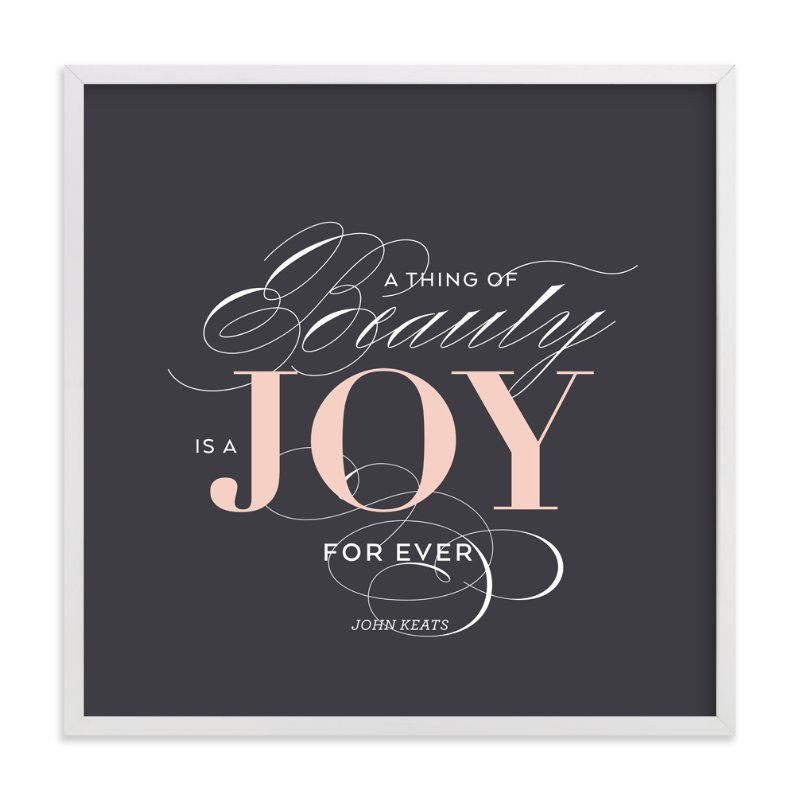"""A Joy Forever"" - Art Print by Sandra Picco Design in beautiful frame options and a variety of sizes."