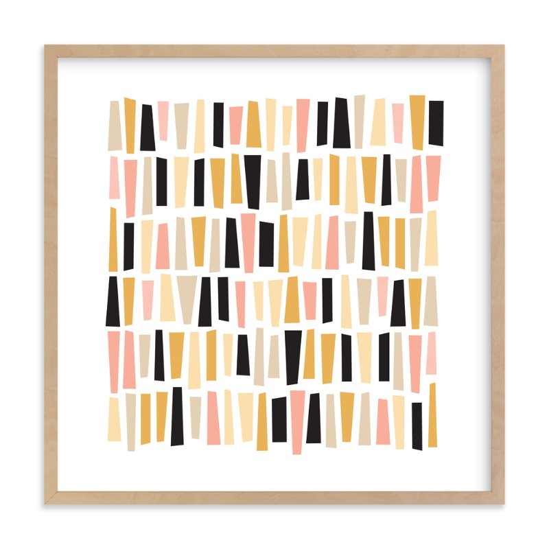 """In A Row"" - Art Print by annie clark in beautiful frame options and a variety of sizes."