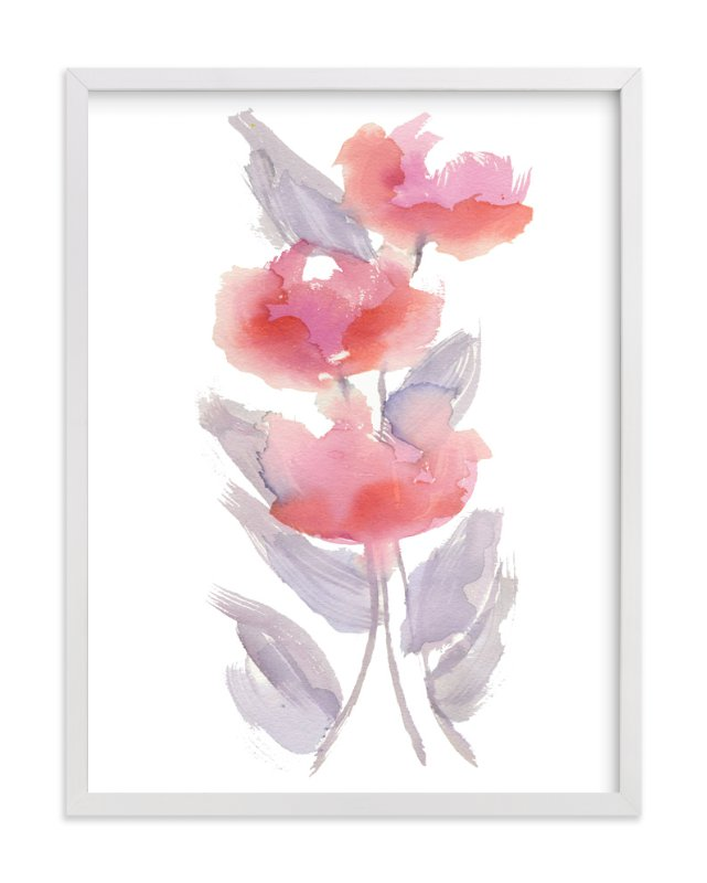"""GAY BLOSSOMS"" - Art Print by Me Amelia in beautiful frame options and a variety of sizes."
