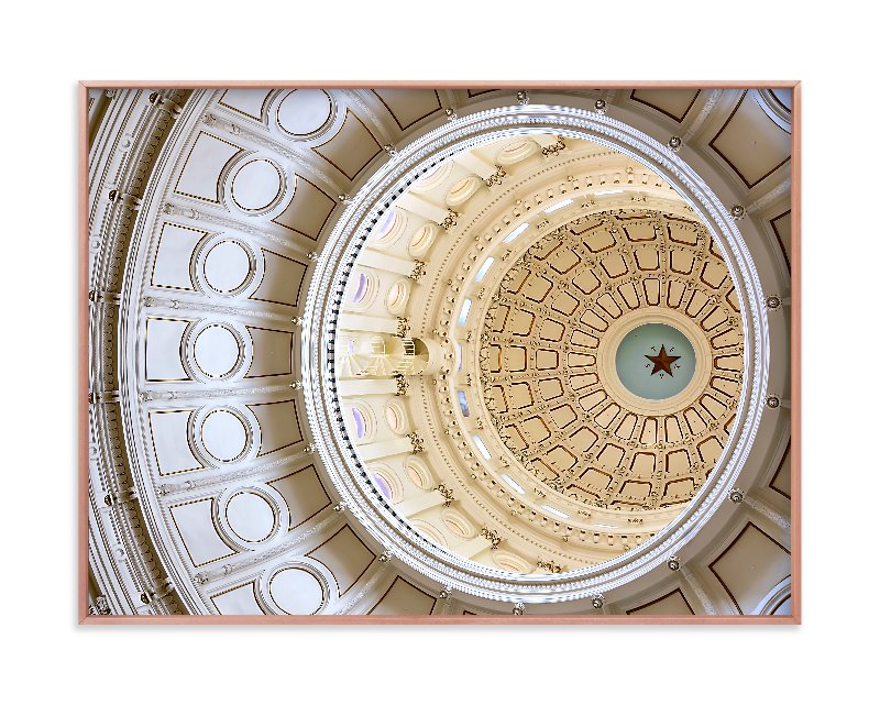 """Austin Capital Dome"" - Art Print by Michelee Scott in beautiful frame options and a variety of sizes."