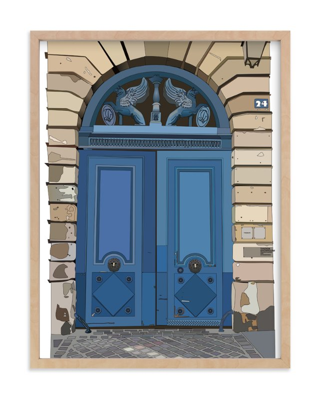 """""""The Blue Door"""" - Art Print by Pat Jennings in beautiful frame options and a variety of sizes."""