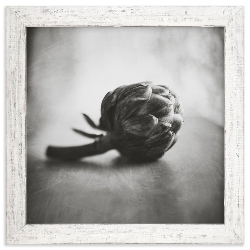 """Artichoke in Black and White"" - Art Print by Stacy Kron in beautiful frame options and a variety of sizes."