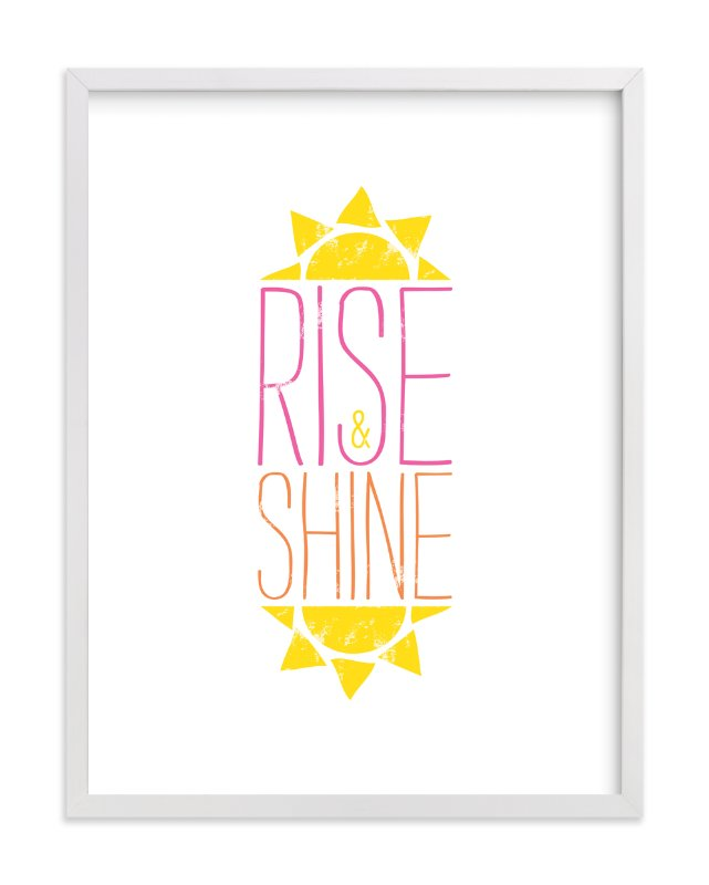 """Good Morning Sunshine"" - Art Print by Christina Novak in beautiful frame options and a variety of sizes."