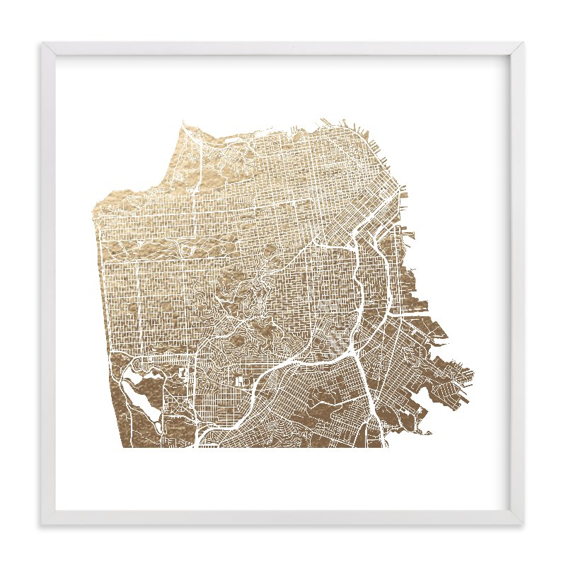 San Francisco Map Store%0A San Francisco Map FoilPressed Wall Art