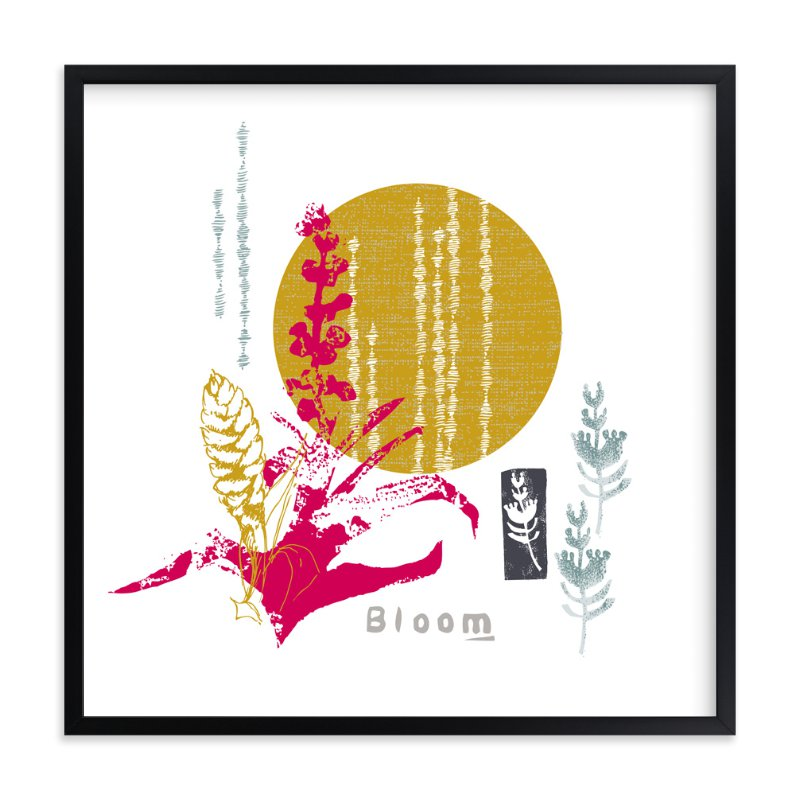 """Essential Garden: Bloom"" - Art Print by Eva Marion in beautiful frame options and a variety of sizes."