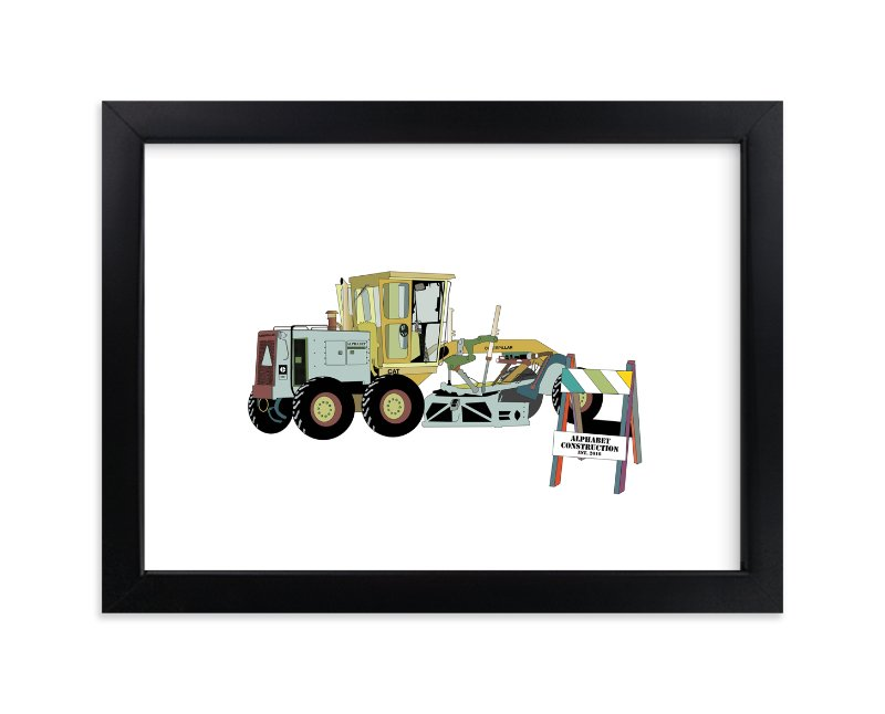 """Big Machinery"" - Art Print by Pat Jennings in beautiful frame options and a variety of sizes."