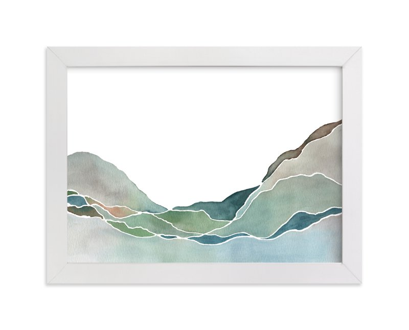 """""""Terrain No. 1"""" - Art Print by Jennifer Daily in beautiful frame options and a variety of sizes."""