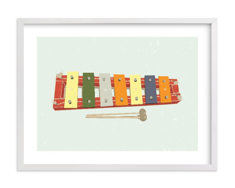 """Xylophone"" - Limited Edition Art Print by Tyler Tea in beautiful frame options and a variety of sizes."