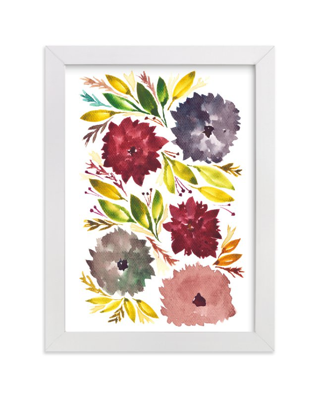 """hand painted flowers_1F"" - Art Print by aticnomar in beautiful frame options and a variety of sizes."