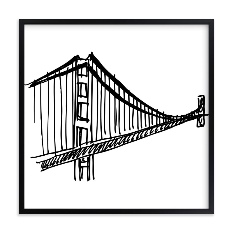 """Gracious Golden Gate Bridge"" - Art Print by Phrosne Ras in beautiful frame options and a variety of sizes."