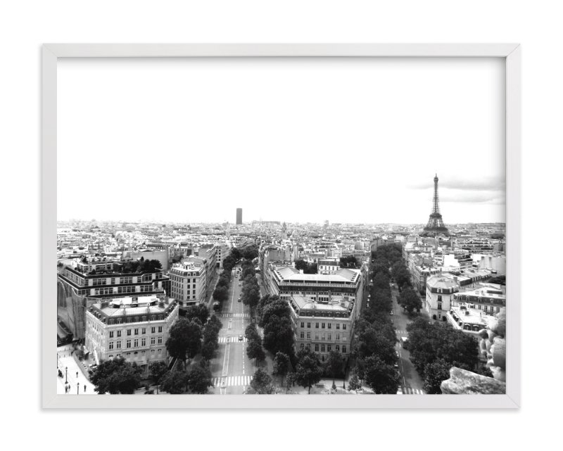 """""""The Streets of Paris"""" - Limited Edition Art Print by Kelsey McNatt in beautiful frame options and a variety of sizes."""