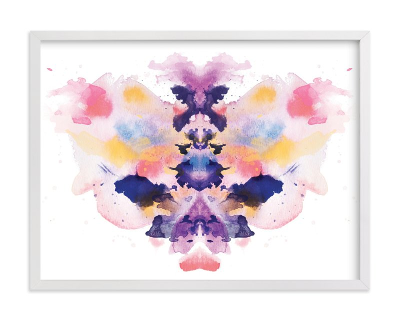 """Watercolor Inkblot 1"" - Art Print by Kristen Smith in beautiful frame options and a variety of sizes."