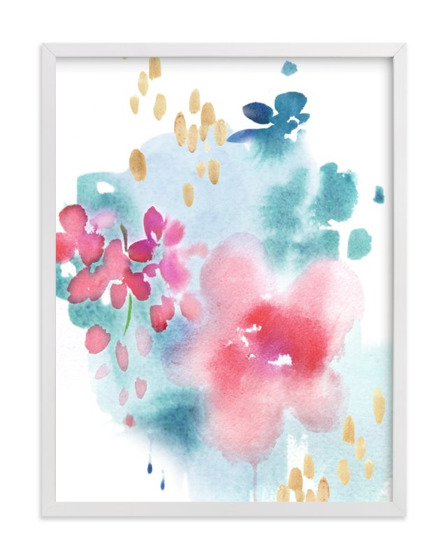 """Abstract Flora I"" - Art Print by Julie Song Ink in beautiful frame options and a variety of sizes."