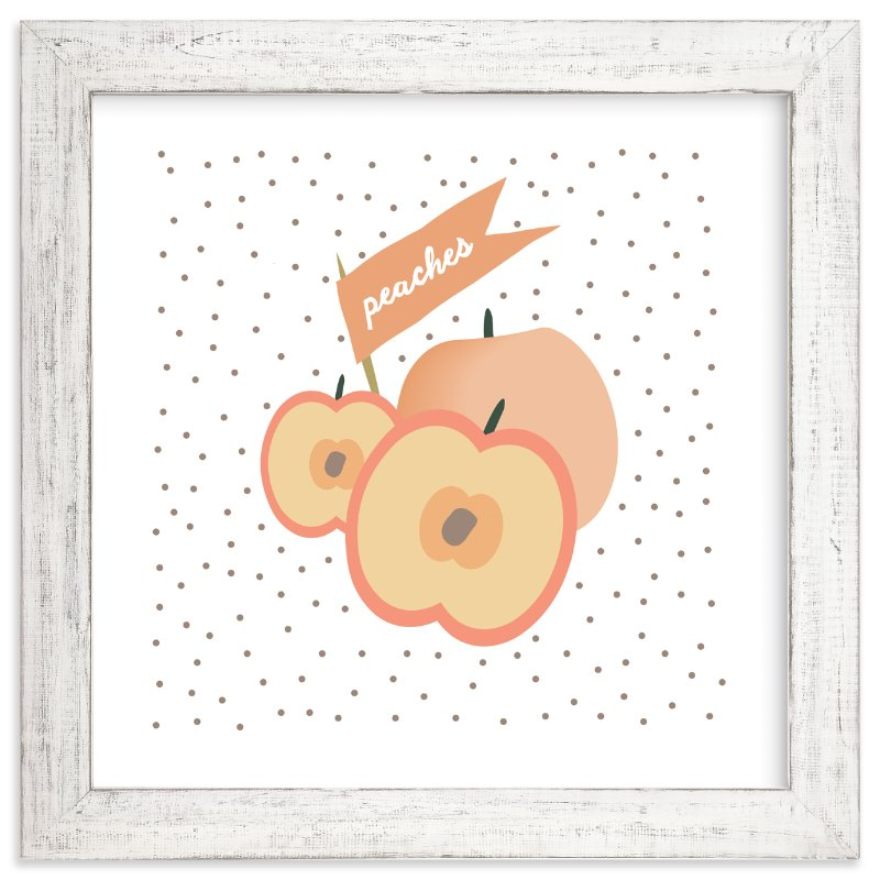 """""""Farmer's Market Peaches"""" - Art Print by Kate Capone aka Oh So Suite in beautiful frame options and a variety of sizes."""