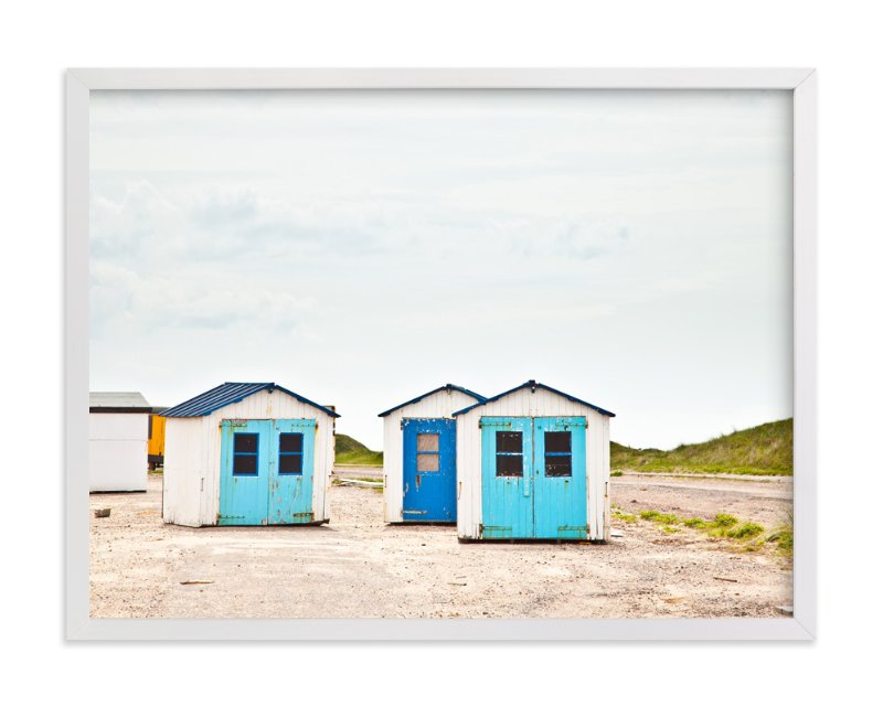 """Three Houses"" - Limited Edition Art Print by Alexandra Feo in beautiful frame options and a variety of sizes."