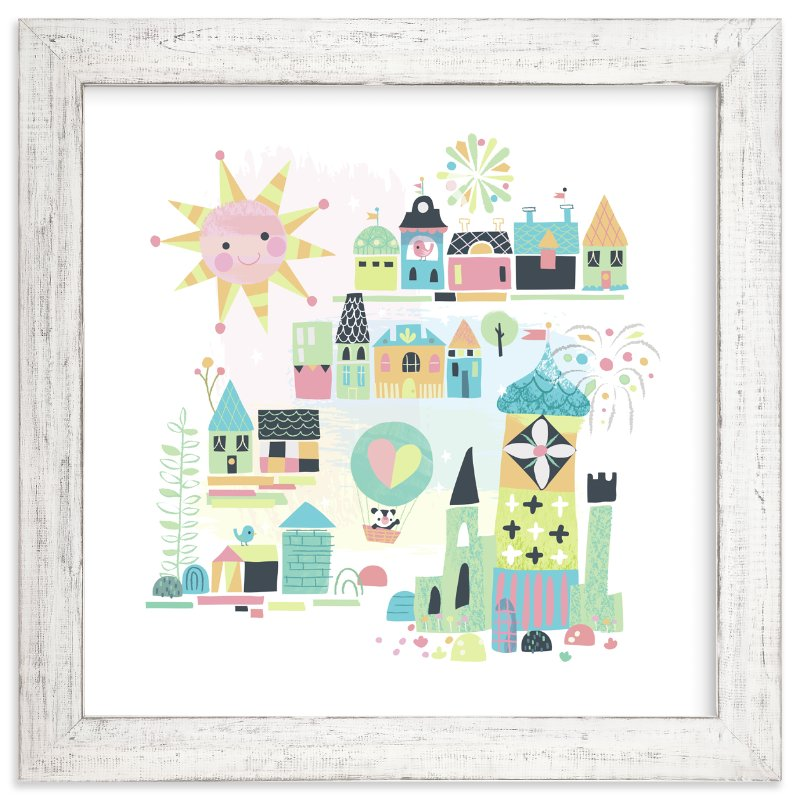 """tiny town"" - Limited Edition Art Print by Jill Howarth in beautiful frame options and a variety of sizes."