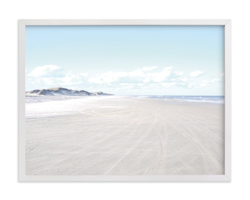 """Beach Escape"" - Art Print by Trendy Peas in beautiful frame options and a variety of sizes."