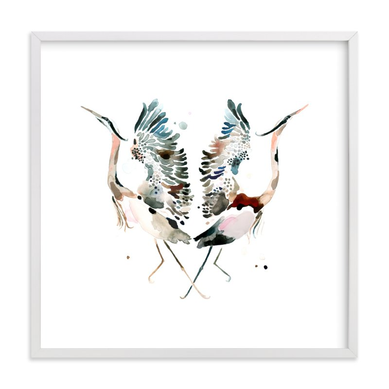 """Family Crest: Great Blue Herons"" - Art Print by Betty Hatchett in beautiful frame options and a variety of sizes."