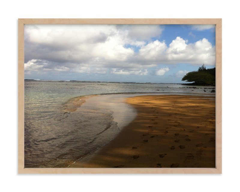"""Footprints"" - Art Print by Jan Kessel in beautiful frame options and a variety of sizes."