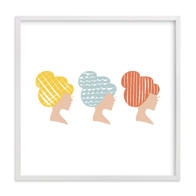 """A Blonde, a Bluenette, and a Redhead "" - Limited Edition Art Print by feb10 design in beautiful frame options and a variety of sizes."