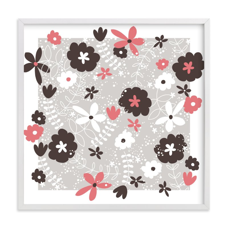 """""""Button Blossom"""" - Art Print by Muffin Grayson in beautiful frame options and a variety of sizes."""