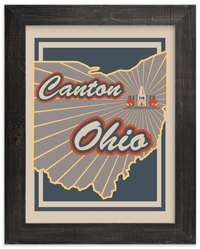 """""""Canton Ohio"""" - Art Print by Nathan Poland in beautiful frame options and a variety of sizes."""