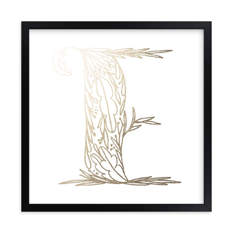 """""""Botanical E"""" - Foil-pressed Art Print by Grace Kreinbrink in beautiful frame options and a variety of sizes."""