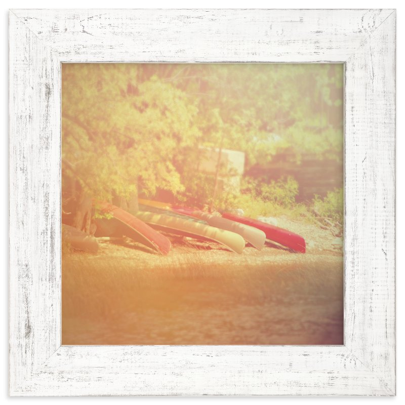 """""""Lake Champlain Canoes"""" - Art Print by Smile Peace Love in beautiful frame options and a variety of sizes."""