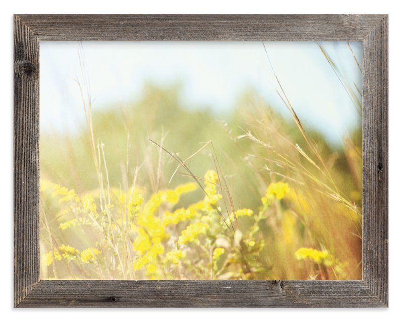 """Field of Sunshine"" - Art Print by Smile Peace Love in beautiful frame options and a variety of sizes."
