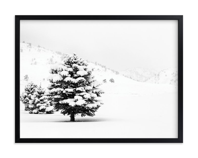 """Tranquil Snow II"" - Art Print by Gabrial Reising in beautiful frame options and a variety of sizes."