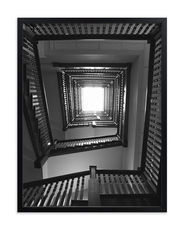 """Up Stairs"" - Art Print by Sara Heilwagen in beautiful frame options and a variety of sizes."