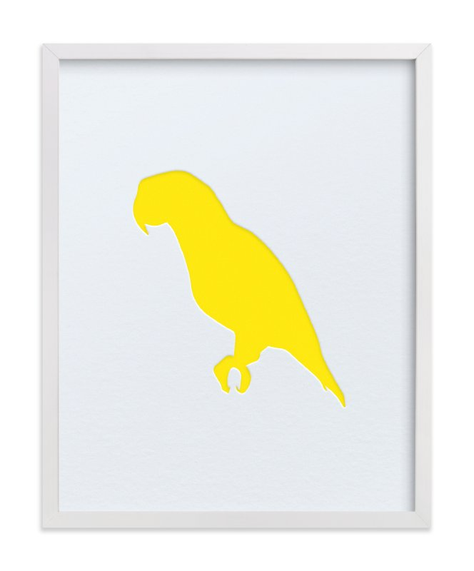 """""""Custom Silhouette Letterpress Art"""" - Silhouette Letterpress Art by Minted in beautiful frame options and a variety of sizes."""