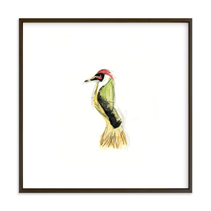 """""""""""Wild Thing"""" Bird"""" - Art Print by Mande in beautiful frame options and a variety of sizes."""