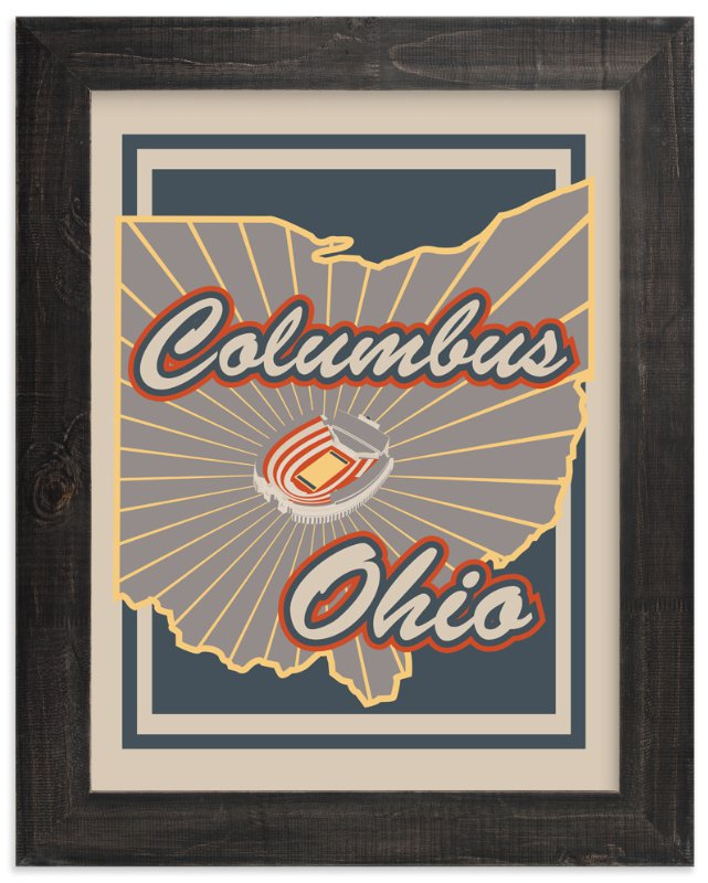 """Columbus Ohio"" - Art Print by Nathan Poland in beautiful frame options and a variety of sizes."
