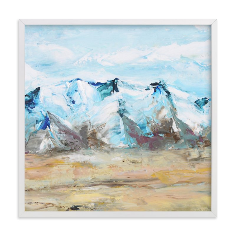 """""""Blue Mountain"""" - Art Print by Laura Morris in beautiful frame options and a variety of sizes."""