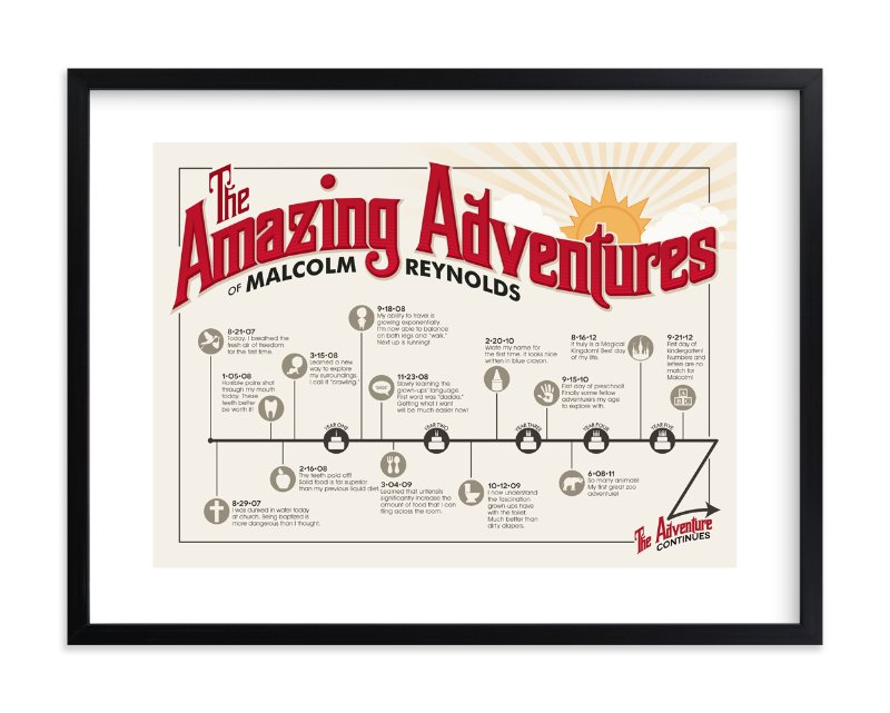 """The Amazing Adventure"" - Children's Custom Art Print by GeekInk Design in beautiful frame options and a variety of sizes."