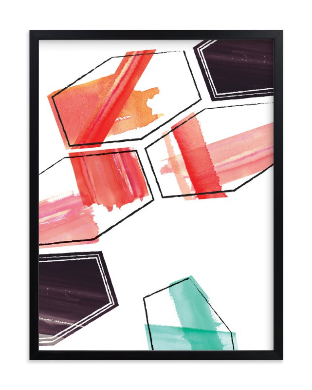"""""""Geometry Uprising One"""" - Art Print by Angela Marzuki in beautiful frame options and a variety of sizes."""