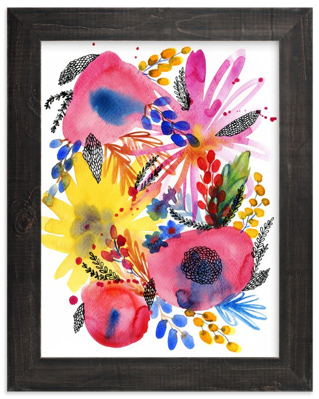 """""""Flowers"""" - Art Print by Alexandra Dzh in beautiful frame options and a variety of sizes."""