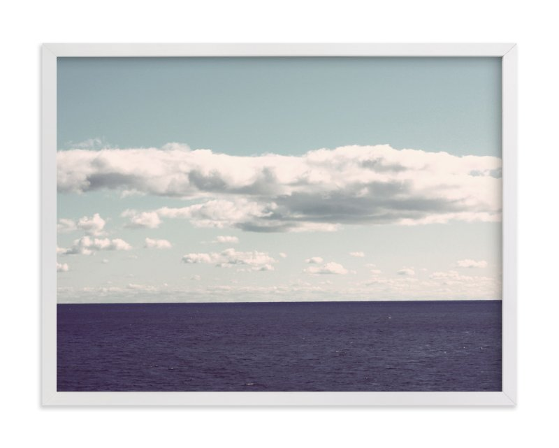 """The Calm Sea"" - Limited Edition Art Print by Gray Star Design in beautiful frame options and a variety of sizes."