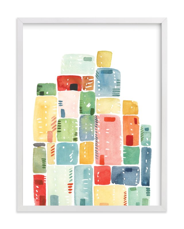 """Rectangles Stacked"" - Art Print by Yao Cheng in beautiful frame options and a variety of sizes."