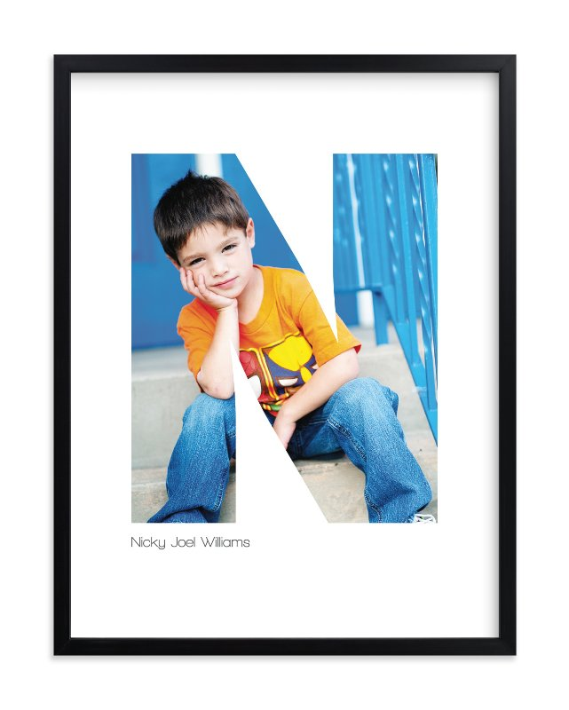 """N - Within Letters of You"" - Children's Custom Photo Art Print by Heather Francisco in beautiful frame options and a variety of sizes."