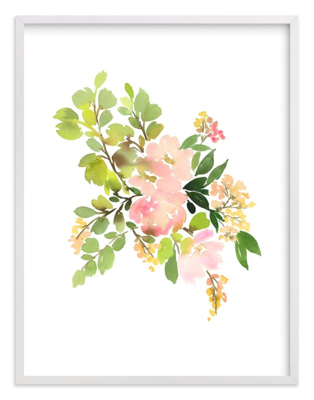 """Flora in Peach II"" - Art Print by Yao Cheng in beautiful frame options and a variety of sizes."