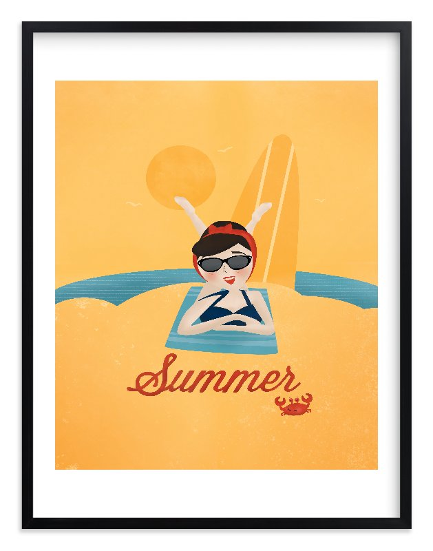 """""""Sun and Surf"""" - Limited Edition Art Print by Pistols in beautiful frame options and a variety of sizes."""