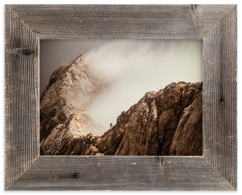 """""""Man and a Mountain"""" - Art Print by Uros Zagozen in beautiful frame options and a variety of sizes."""